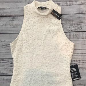 NWT Express Off White Lace Midcalf Dress.